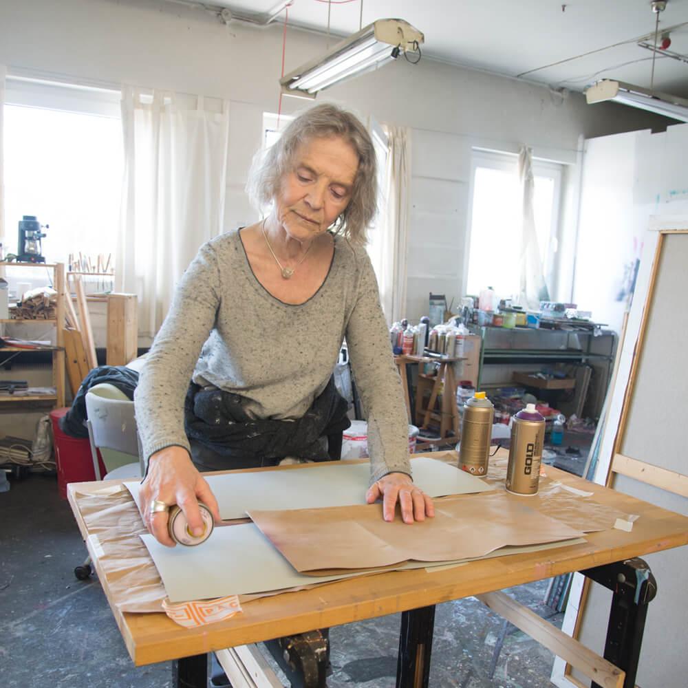 Anne D. Borgsen bei der Arbeit