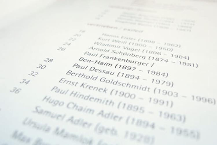 Verfemte Komponisten Broschuere 1